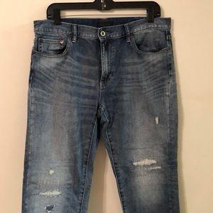 Uniqlo size 29 distressed jeans